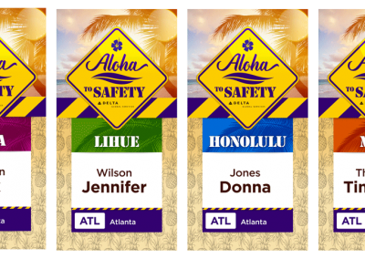 Safety Conference Badge Designs